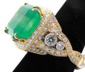 15M: $ 28,975.00 Emerald & Diamond Ladies Ring