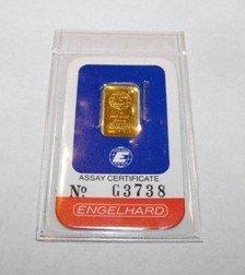 A 2.5 Gram Englehard Pure Gold Bullion Bar
