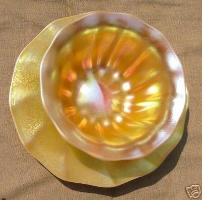 47: Steuben Gold Aurene Bowl and Liner