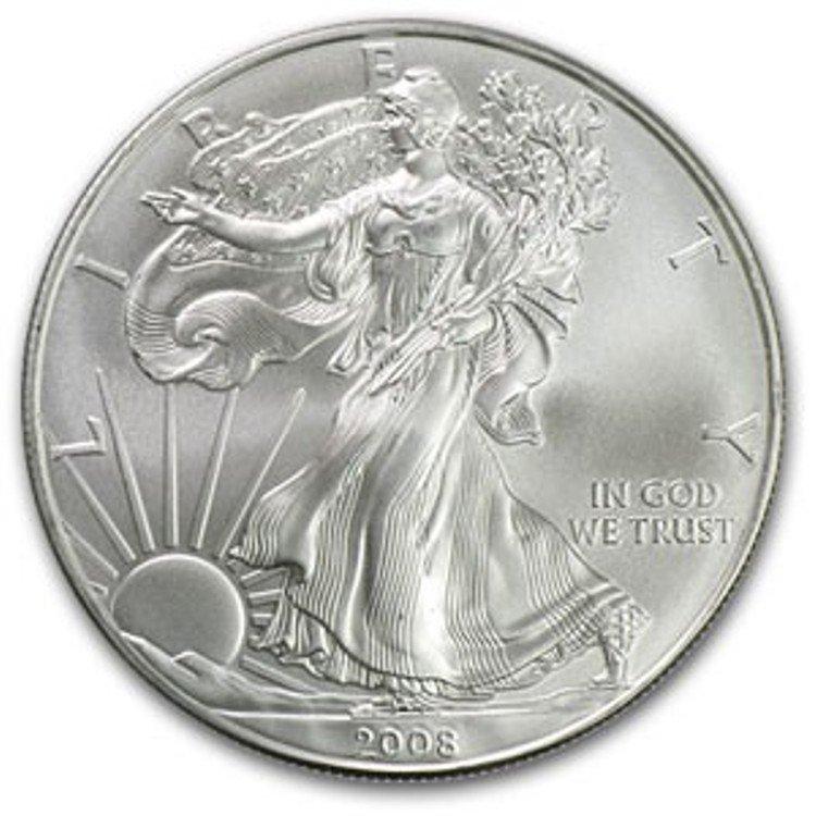 9S: a 1 oz. Random Date UNC US Silver Eagle