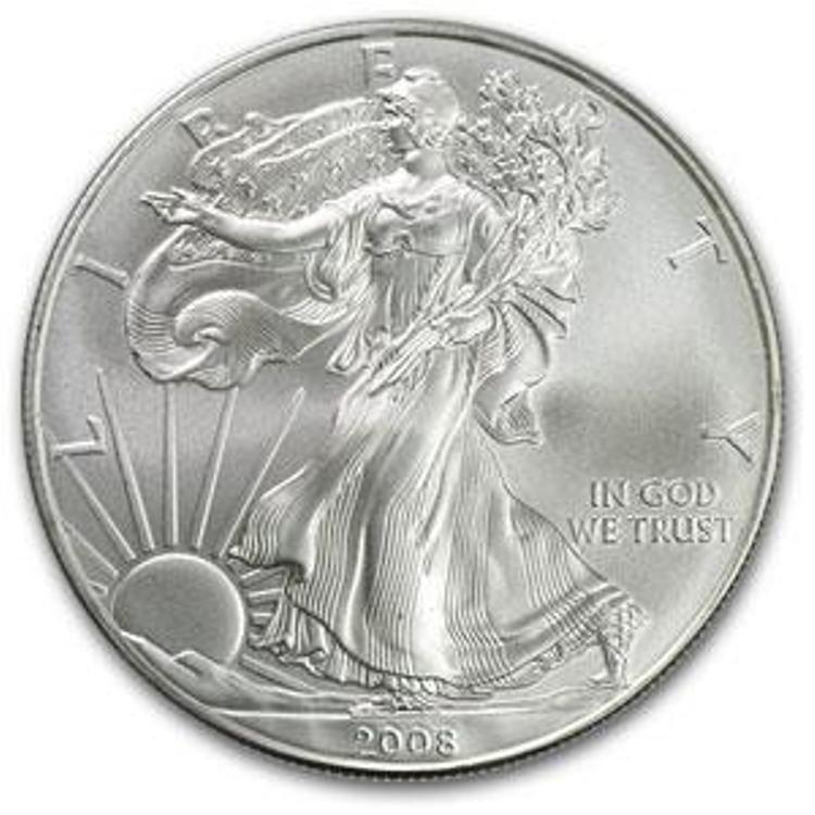 45S: a 1 oz. Random Date UNC US Silver Eagle
