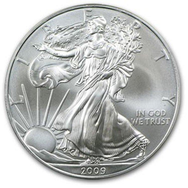 46S: a 1 oz. Random Date UNC US Silver Eagle