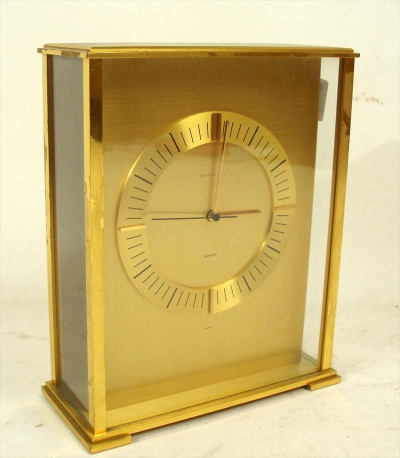 9Z: Tiffany & Co. Brass Presentation Clock