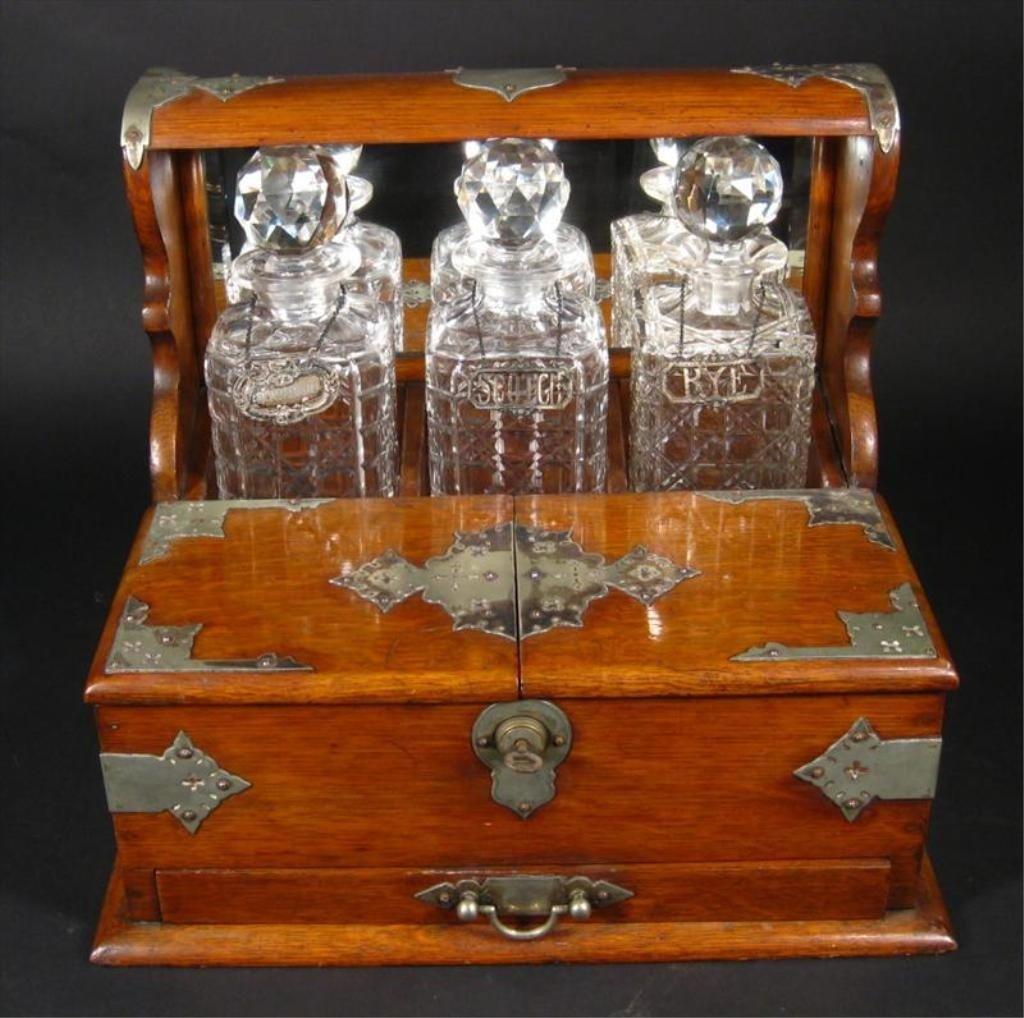 10Z: Victorian Tantalus & Game Set 19th Century