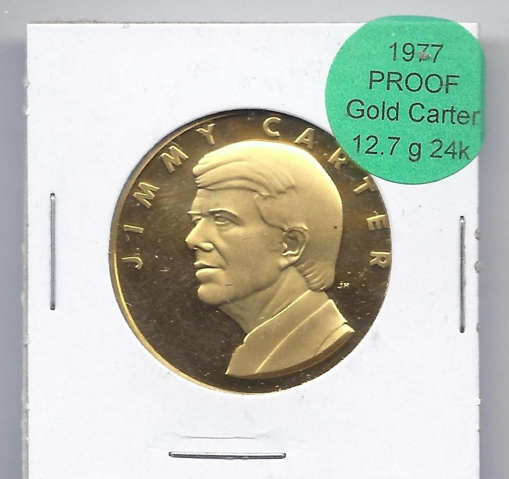 1A: 1977 Jimmy Carter Proof GOLD Coin - 12.7 g