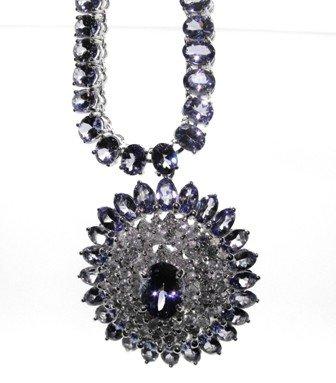 2M: $45,900.00 Appraised Tanzanite & Diamond Necklace
