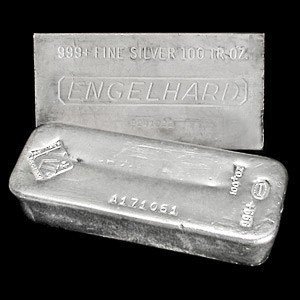14C: 100 OZ Bar Silver various makers