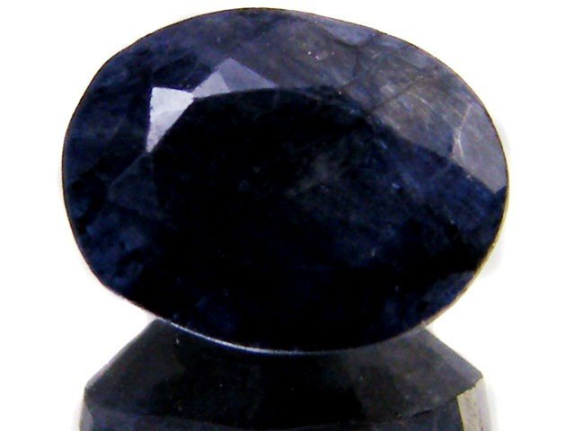 8V: 3 ct. Natural Sapphire Deep Dark Gemstone