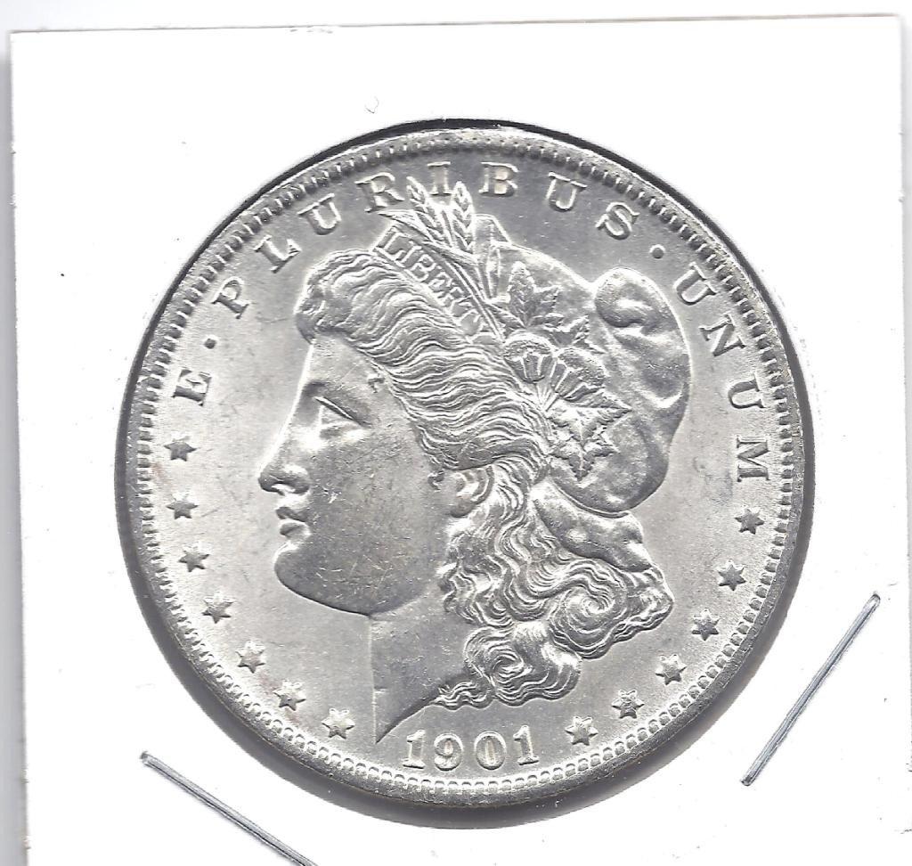 14N: 1901 Gem BU Morgan Silver Dollar