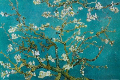 2P: Almond Blossom  by Vincent van Gogh Art print 36 x