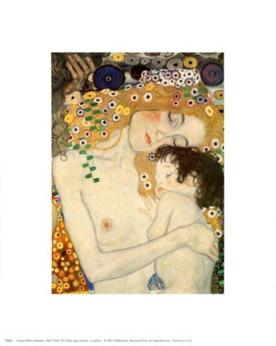 9P: Mother and Child by Gustav Klimt Art print 8 x 10 i