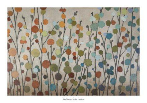 14P: Seasons  by Sally Bennett Baxley Art print 40 x 28