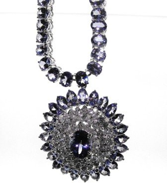 2M: $45,900.00 Appraised Tanzanite & Diamond Necklace