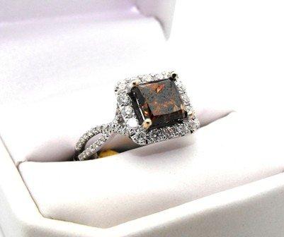 3M: 15,950 Appraised Chocolate Diamond Ring - 3