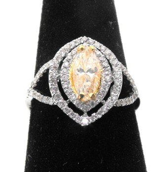 8M: $8,550 Appraised Yellow Diamond Ring