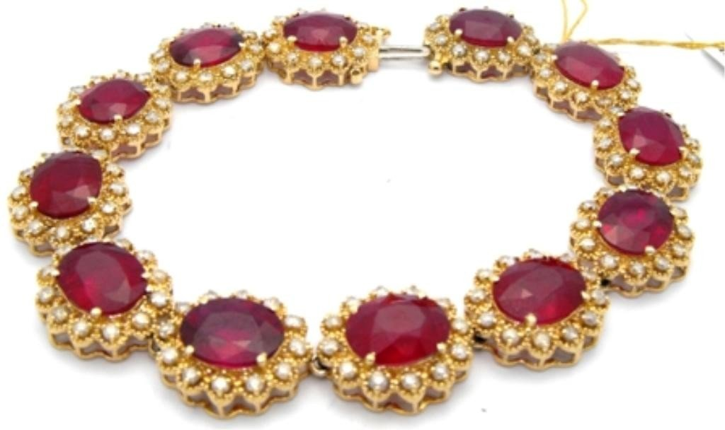 9M: $19,100 Appraised Ruby & Diamond Bracelet