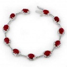 12.4 Ctw Ruby & Diamond Bracelet