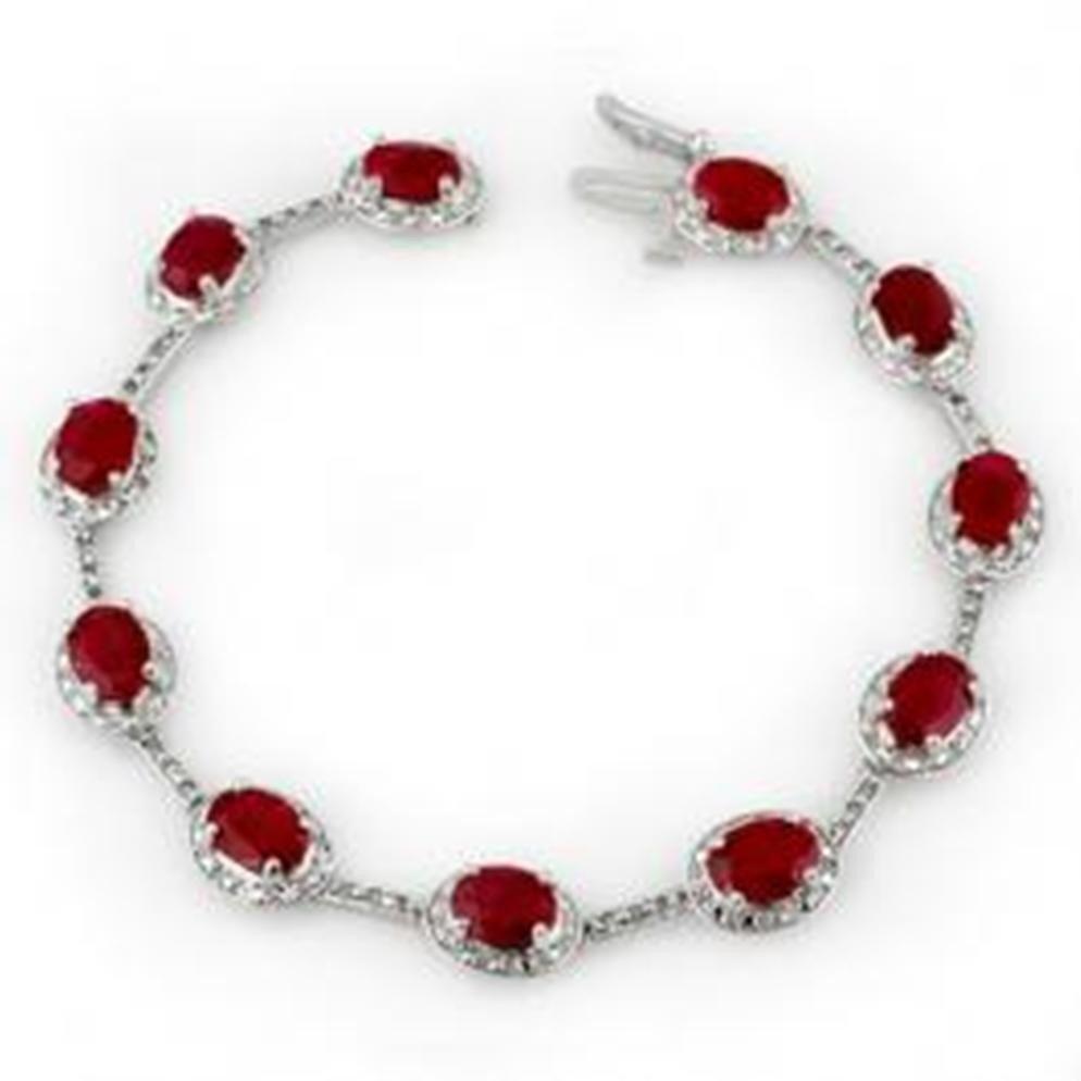10W: 12.4 ctw Ruby & Diamond Bracelet