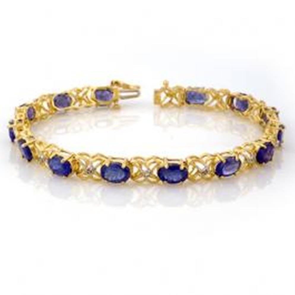 11W: 12.05 ctw Tanzanite & Diamond Bracelet