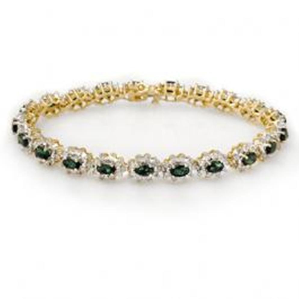 12W: 9.42 ctw Emerald & Diamond Bracelet