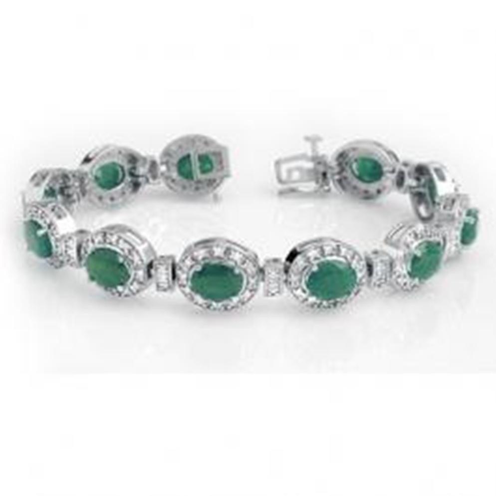 13W: 16.0 ctw Emerald & Diamond Bracelet
