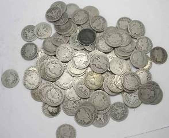 13O: Lot Of 20 Barber Quarters