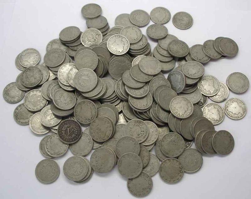 30O: Lot of 100 V nickels