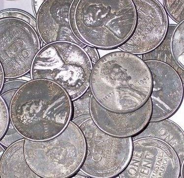 43O: Lot of 100 Steel Wheat Cents