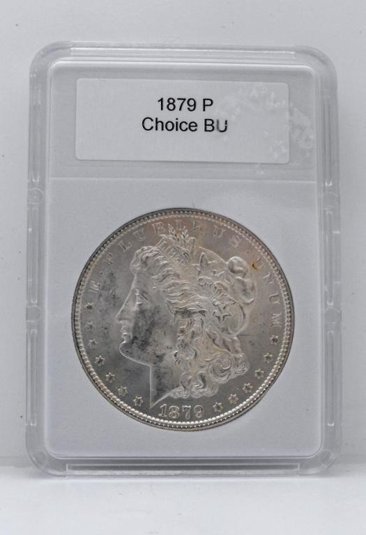 27: 1879 P CH BU Morgan Silver Dollar