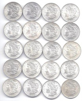 (20) Brilliant Uncirculated O Mint Morgans