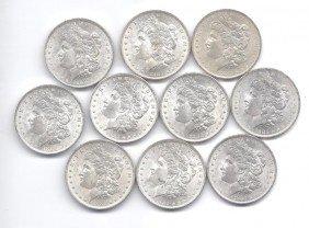 (10) Brilliant Uncirculated O Mint Morgans