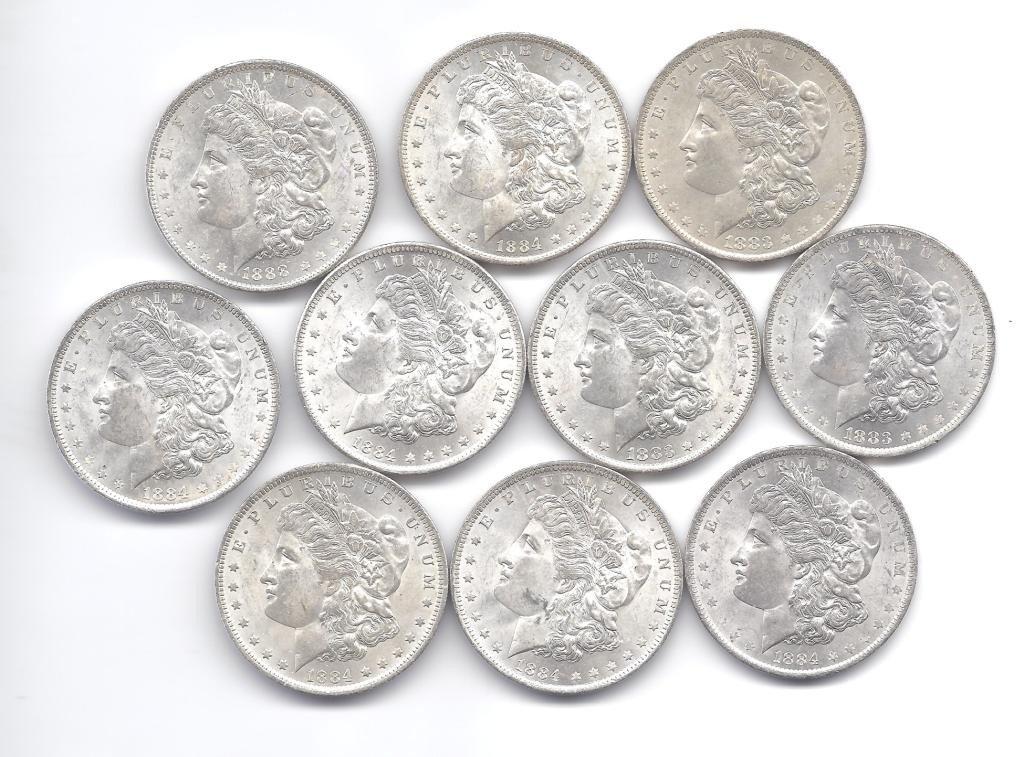 12B: (10) Brilliant Uncirculated O Mint Morgans