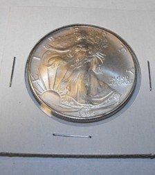 1995 Us Silver Eagle BU Grade