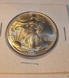 32C: 1991 US Silver Eagle Gem BU