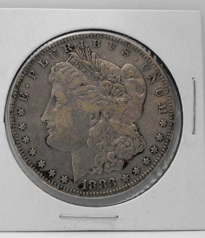 1B: 1883 S Key Date Morgan Silver Dollar
