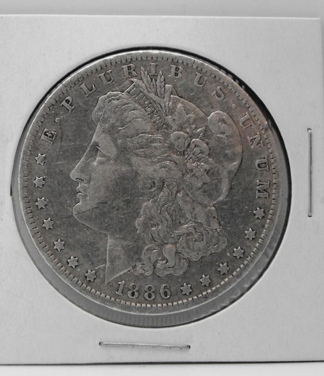 2B: 1886 o XF/AU Grade Key Date Morgan