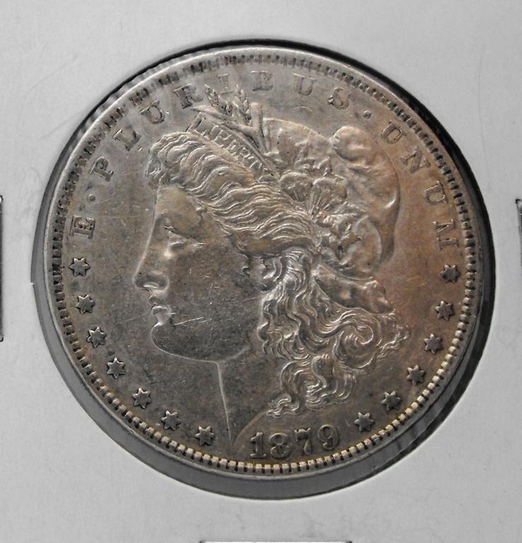 5B: 1879 P AU Grade Morgan Dollar