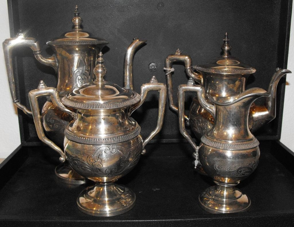 5D: Victorian Silver Plate Tea Service