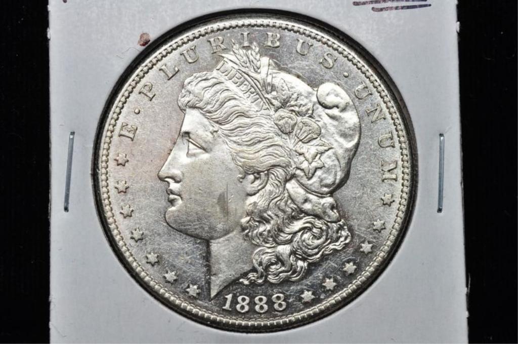 7: RARE 1888 S KEY DATE BU Morgan Dollar