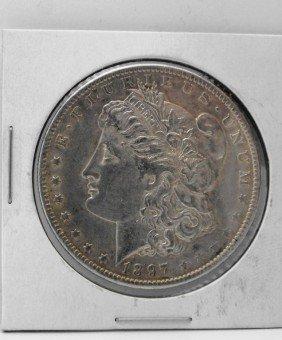 1897 O Semi Key Date AU Grade Morgan