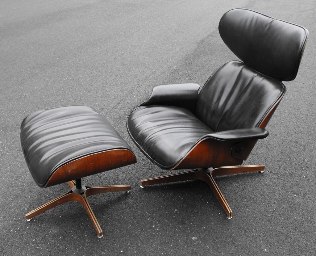 10: Plycraft Mid Century Modern Chair & Ottoman