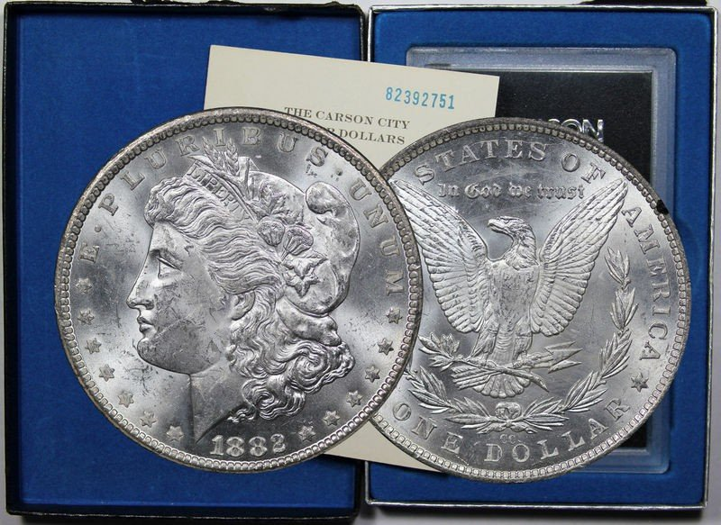 1S: 1882 Carson City GSA Morgan Dollar