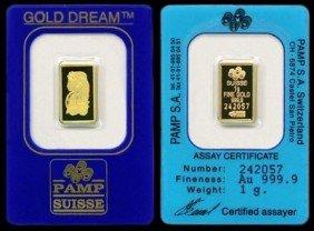 A 1oz. Pamp Sussie Gold Bar