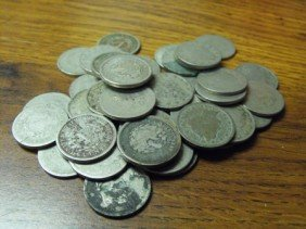 Lot Of (50) V Nickels