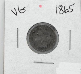 1865 III Cent Silver