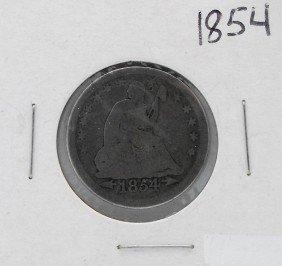 1854 Seted Liberty Quarter W/ Arrows