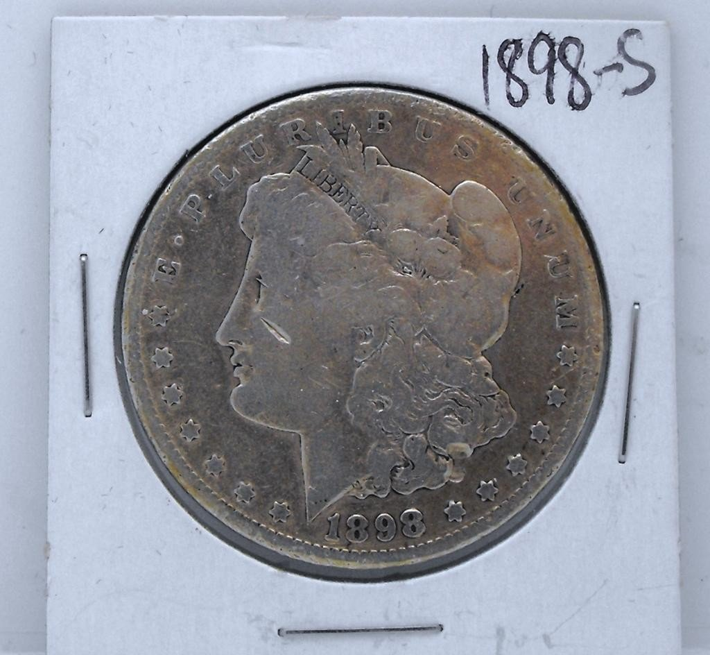 59Y: 1898 S Key Date Morgan Dollar