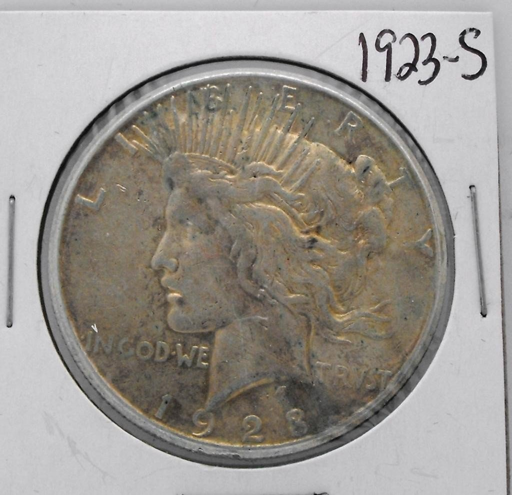 61Y: 1923 S Key Date Peace Dollar