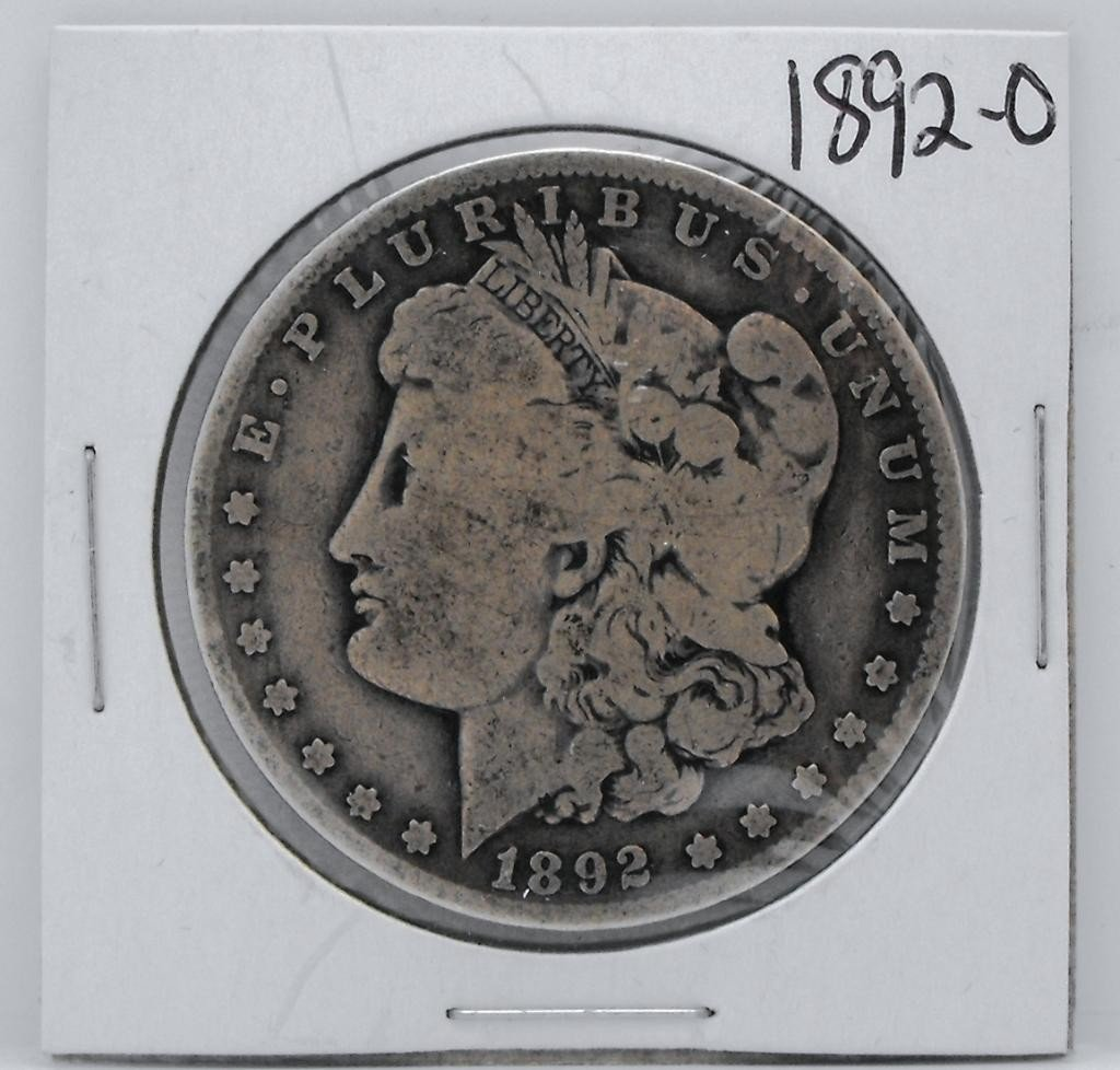 62Y: 1892 O Key Date Morgan Dollar