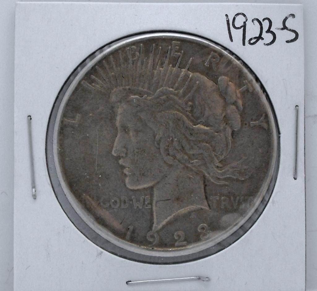 63Y: 1923 S Key Date Peace Dollar